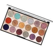 Glitter Eyeshadow Palette Makeup, COOSA Shimmer 18 Colors Highly Pigmented Professional Eye Shadow Waterproof Eye Shadows Cosmetic