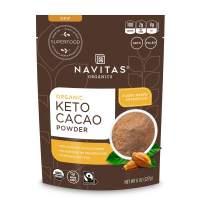 Navitas Organics Keto Cacao Powder, 8oz. Bag — Organic, Non-GMO, Fair Trade, Gluten-Free