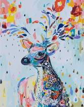 YXQSED [Framless DIY Oil Painting Paint by Number Kit- Painted Deer 16X20 inch