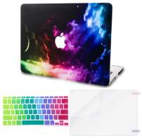 """KECC Laptop Case for MacBook Pro 13"""" (2020/2019/2018/2017/2016) w/Keyboard Cover Plastic Hard Shell A2159/A1989/A1706/A1708 Touch Bar + Screen Protector 3 in 1 Bundle (Colorful Space)"""
