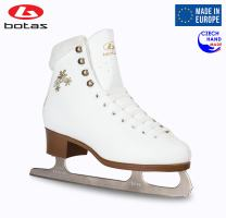 Botas - Model: Stella/Made in Europe (Czech Republic) / Figure Ice Skates for Women, Girls, Kids/Nicole Blades/White Color