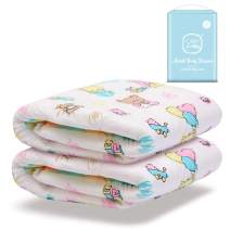 Littleforbig Printed Adult Brief Diapers Adult Baby Diaper Lover ABDL 2 Pieces - Baby Cuties(M)