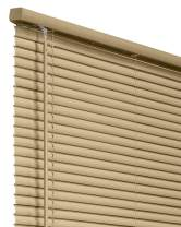 "CHICOLOGY Horizontal Venetian Slat Window Shade Cordless 1-Inch Vinyl Mini Blinds Gloss Cappuccino 27 X 64 27""W X 64""H Commercial Grade"
