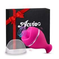 Clitoral Licking Vibrator Clitoris Tongue Stimulator Vaginal Breast Nipple G Spot Massager for Quick Orgasm Masturbator Mini Vibrator Adult Sex Toys for Women Couples(Pink)