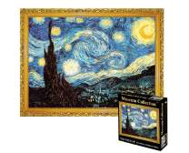 Adults Puzzle 1000 Piece Jigsaw Puzzle Starry Night, Thicker Paper Famous Art Painting Van Gogh Difficult Puzzle, Home Decor 70 x 50 cm