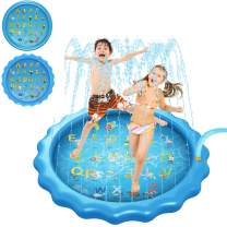 Satkago Funny Inflatable Summer Sprinkle Sprinkler Playmat Play Mat Outdoor Water Toy for Kids Children Toddlers Boys Girls 170cm