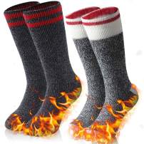 Warm Thermal Socks, Ristake Men Women Winter Thick Insulated Heated Crew Socks for Cold Weather