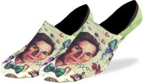 Good Luck Sock Men's Bill Nye No Show Invisible Socks - Green, Adult Shoe Size 7-12