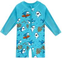 BesserBay Baby Long Sleeve Swimsuit UPF 50+ Sun Protection One Peice Rash Guard 0-36 Months
