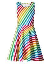 TUONROAD Girls Dresses Sleeveless Midi Dress Mermaid Floral Sundresses for Girls 4-13 Years Summer