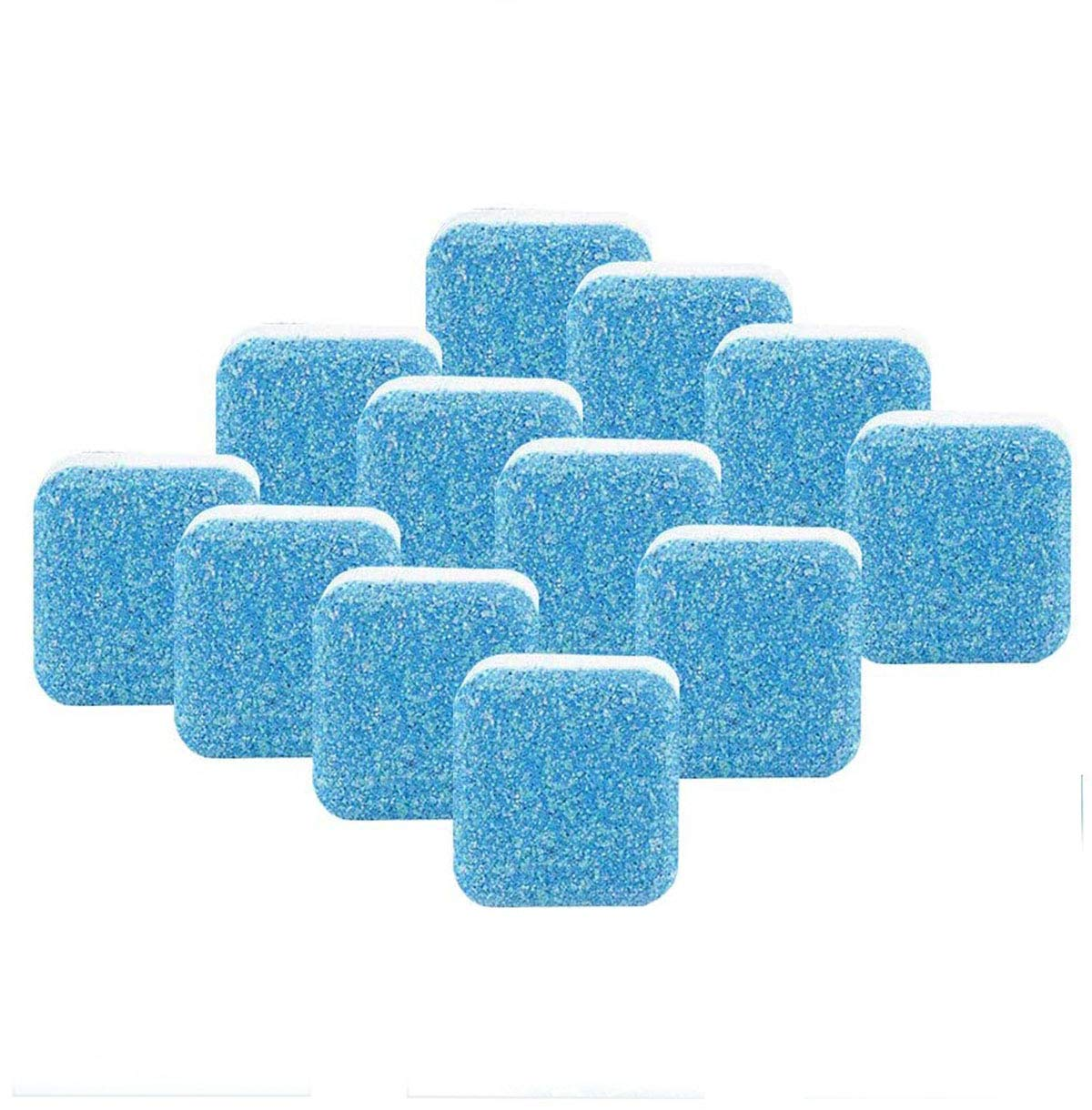 Effervescent Tablet Washer Cleaner,Solid Washing Machine Cleaner,Deep Cleaning Remover with Triple Decontamination for Bath Room Kitchen (12pcs)