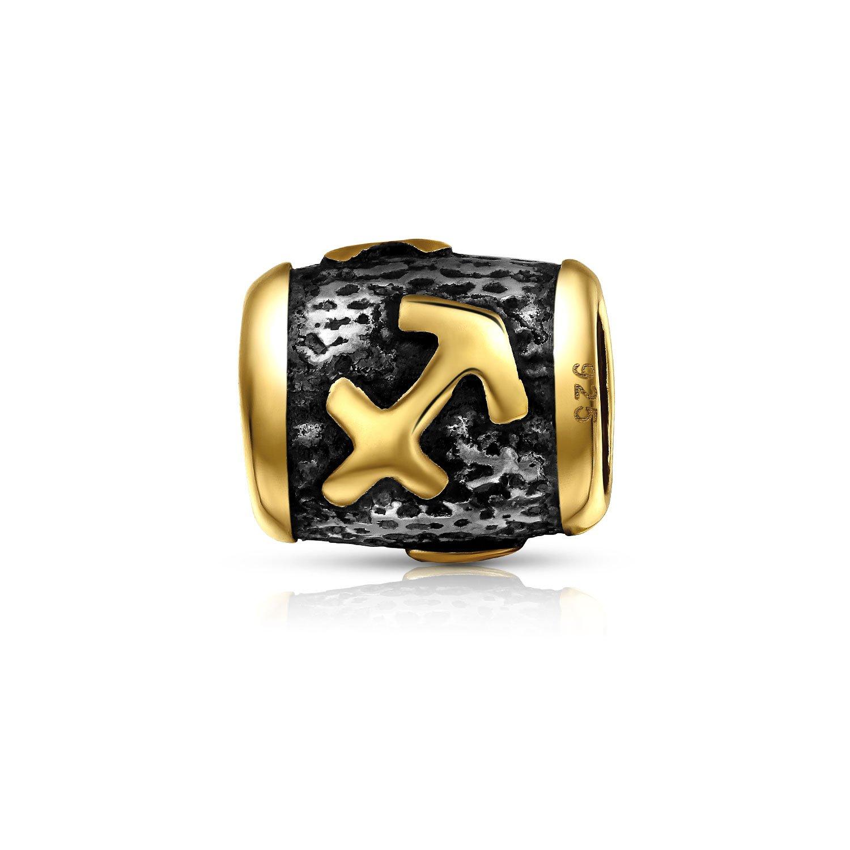 Horoscope Zodiac Sagittarius Charm Bead Fits European Bracelet