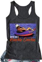 Women's Hotter Than a Hoochie Coochie Workout Tank Top Novelty Funny Country Graphic Tee Top