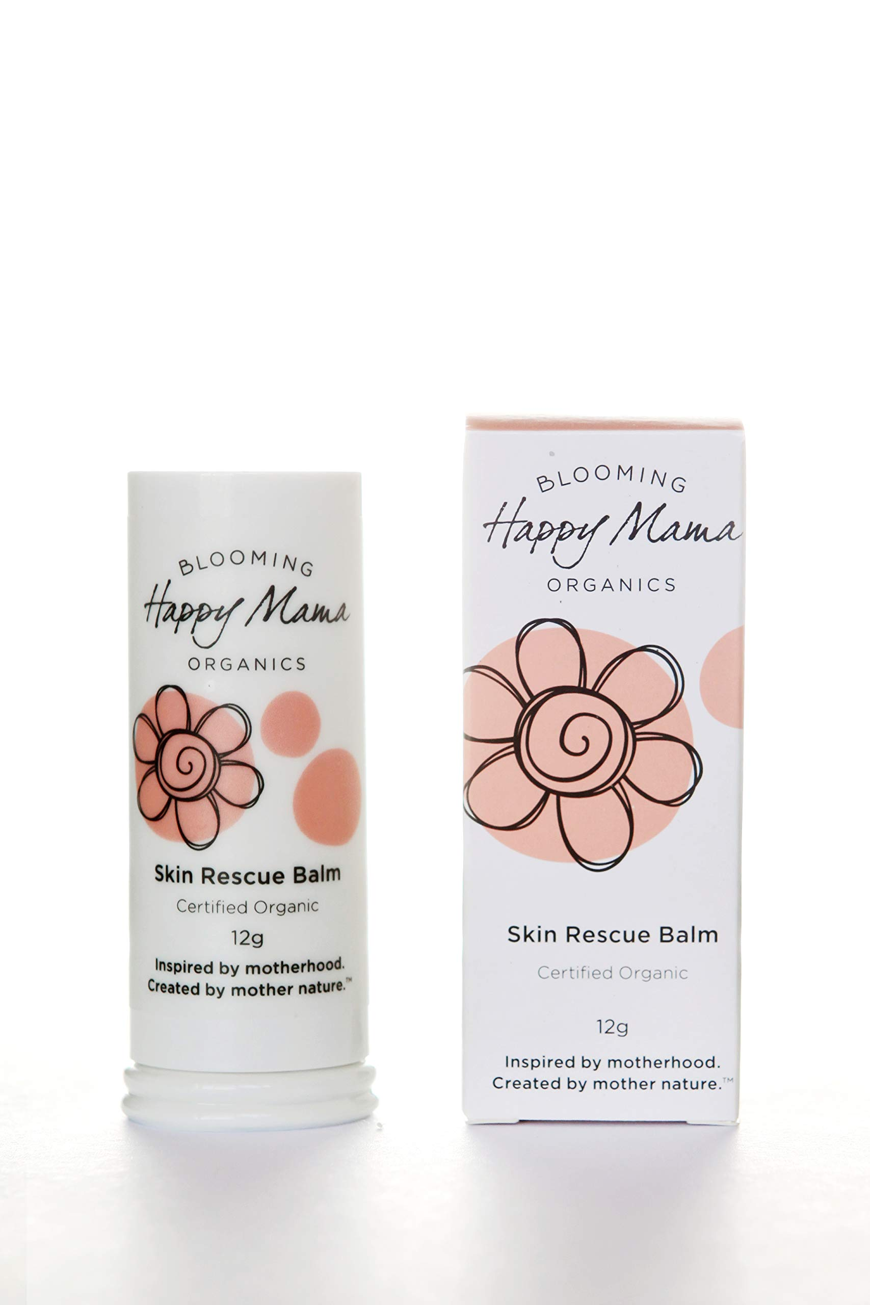 Happy Mama Organics, Natural, Certified Organic, Mom and Baby Moisturizing Balm, Multi Use, Dry Skin, Eczema, Cradle Cap. Belly Cream for Pregnancy Stretch Marks and C section Scar. Made In Australia.