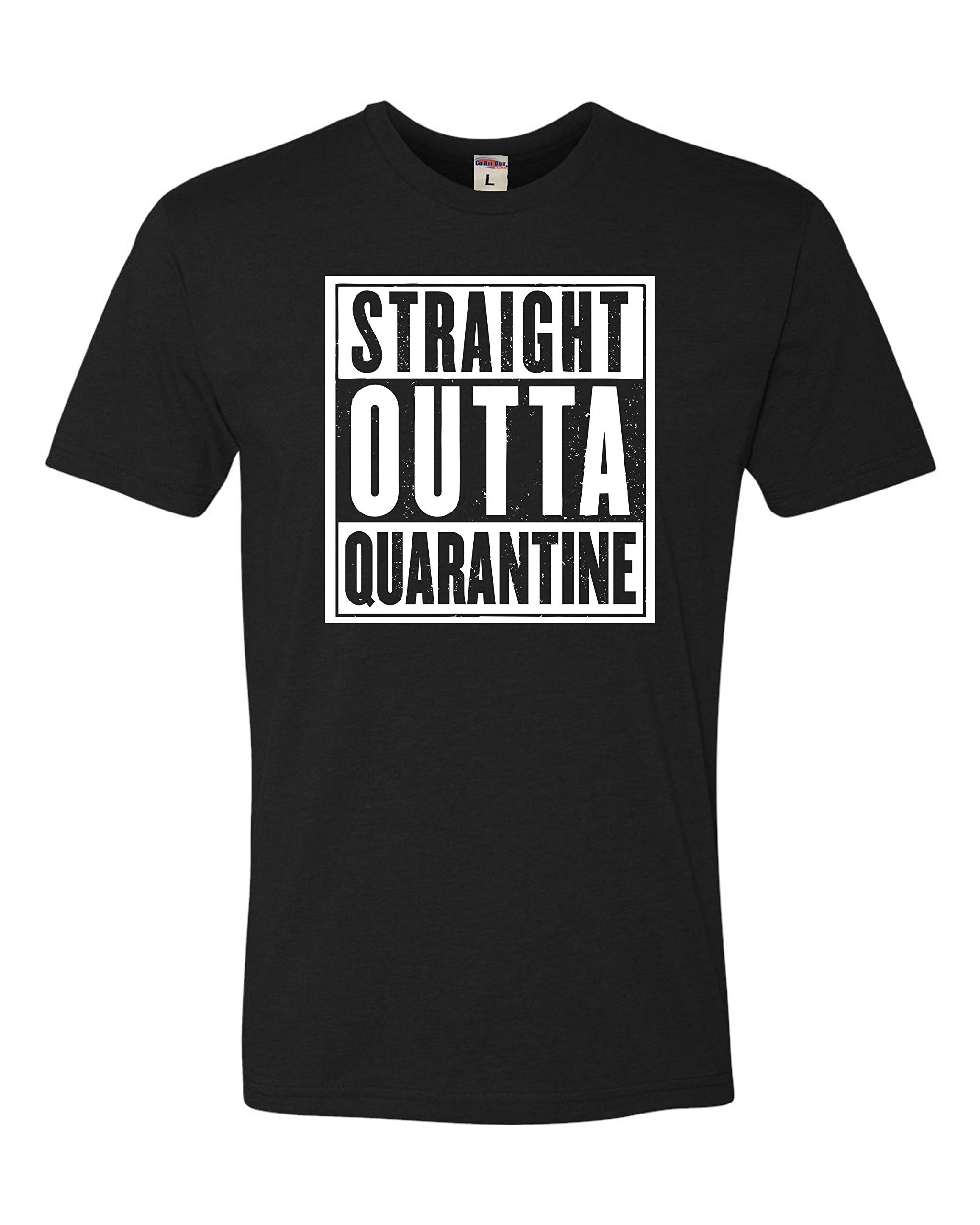 Go All Out Adult Straight Outta Quarantine Deluxe T-Shirt