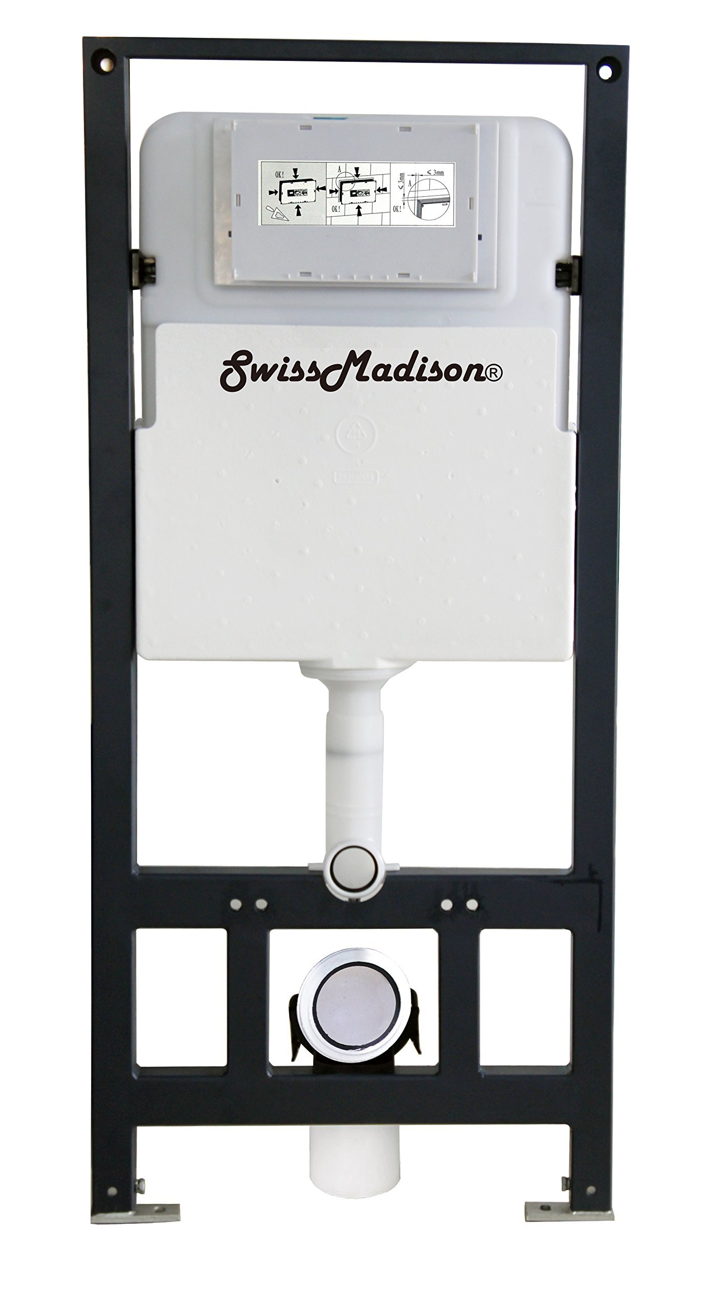 Swiss Madison Well Made Forever SM-WC426 Toilet Tank Carrier, For 2 x 6 Commercial Studs, White