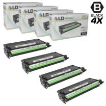 LD Remanufactured Toner Cartridge Replacement for Xerox Phaser 6180 113R726 High Yield (Black, 4-Pack)