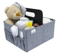 Sorbus Baby Diaper Caddy Organizer - Nursery Essentials Storage Bin for Diapers, Wipes & Toys, Newborn & Infant Portable Car Travel Storage Bag, Changing Table Organizer, Great Baby Shower Gift
