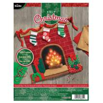 Bucilla Fireside Glow Wallhanging Kit
