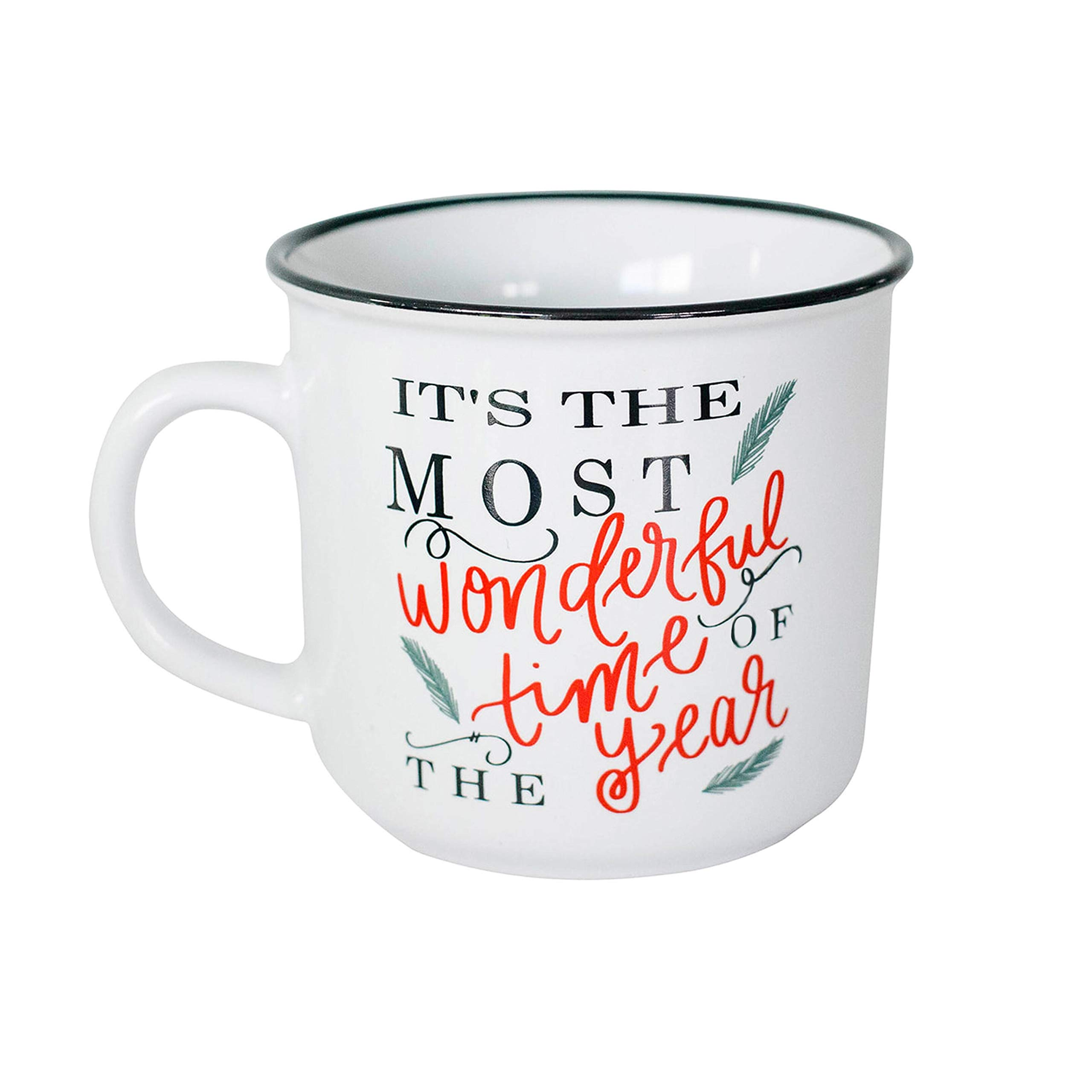 Sweet Water Decor It's The Most Wonderful Time of The Year Mug Coffee Lover for Her Cookies and Milk for Santa Holiday Accessories Stocking Stuffer Winter Hot Cocoa