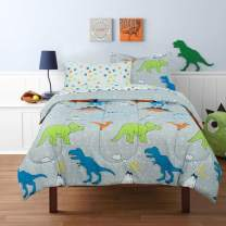 Kidz Mix Dinosaur Volcano Walk Bed in a Bag, Twin, Grey