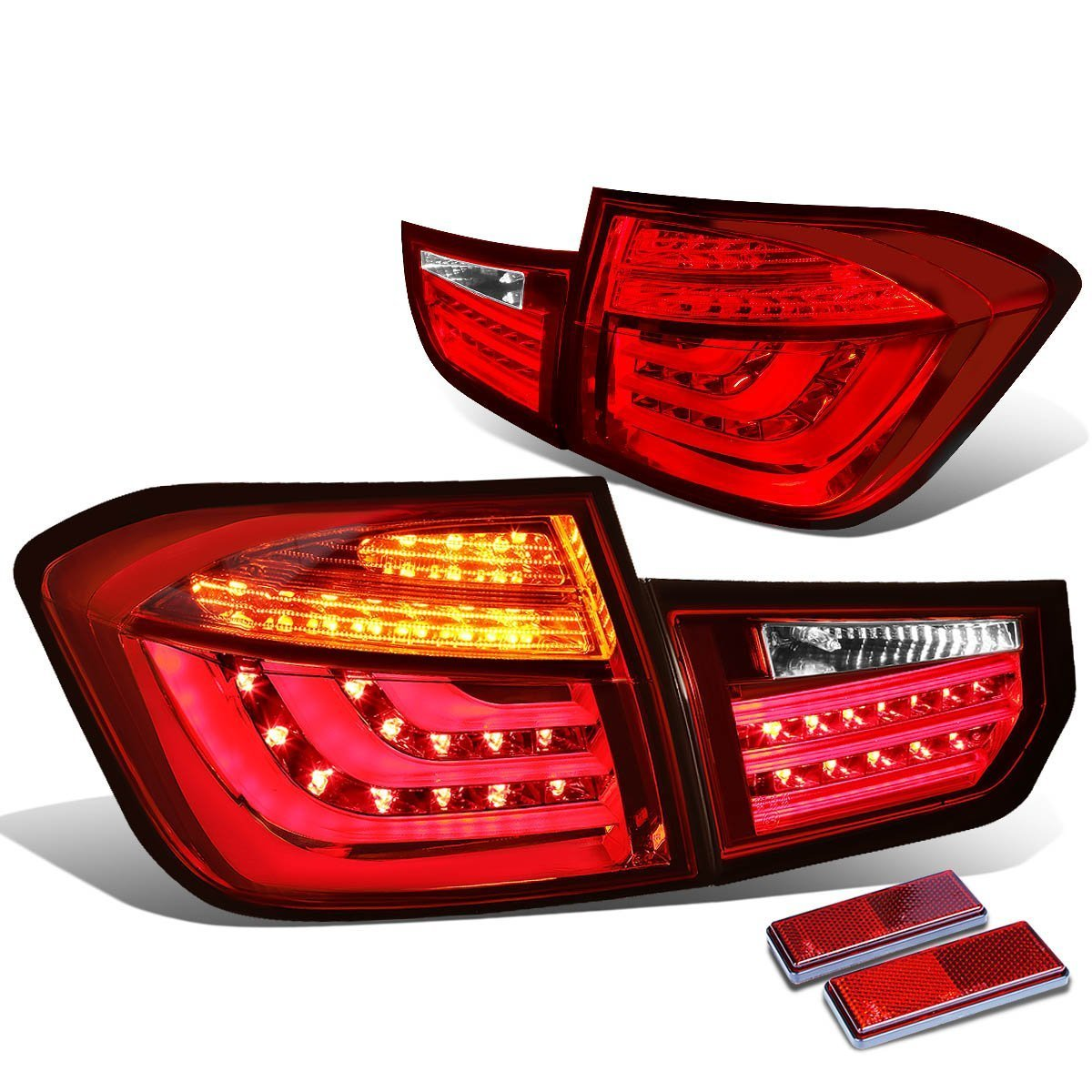 DNA Motoring TL-LED-3D-F3013-RD-CL Tail Light Assembly, Driver and Passenger Side