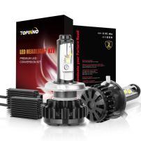 TOPINNO LED Headlight Bulbs Conversion Kit, Extremely Bright CREE (XHP50+XML2) 14000LM, H4 (9003) - 6000K Xenon White Headlight Assembly