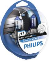 Philips ColorVision H7 Halogen Headlight (Blue), 2 Pack