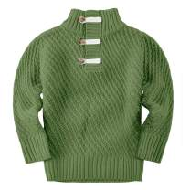 Makkrom Toddler Boys Sweater Knit Cable Turtleneck Winter Sweaters Outfit for Baby Boy Girls