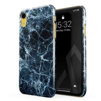 BURGA Phone Case Compatible with iPhone XR - Dark Ice Blue and Black Marble Cute Case for Woman Thin Design Durable Hard Shell Plastic Protective Case
