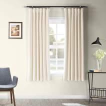 HPD Half Price Drapes VPCH-120601-63 Signature Blackout Velvet Curtain (1 Panel), 50 X 63, Alabaster Beige