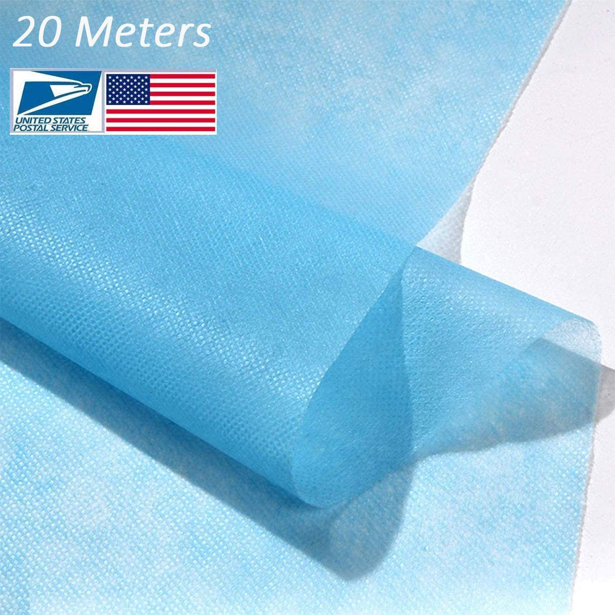 Disposable Waterproof Non-Woven Fabric Cloth,95% Polypropylene Fabric,DIY Handmade Material,Waterproof and Breathable Skin-Friendly and Soft (20M)