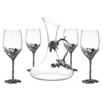 SEMAXE Novelty Wine Glasses for Wine Tasting, Holiday, Birthday and Wedding Gifts-Set of 5
