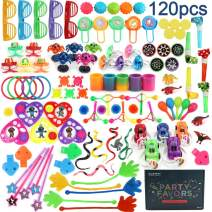 Amy&Benton 120PCS Classroom Treasure Box Prizes Kids Birthday Party Favors Goody Bag Fillers Kid Carnival Prizes Box Toys Assortment Treasure Chest Toys Assorted Pinata Filler