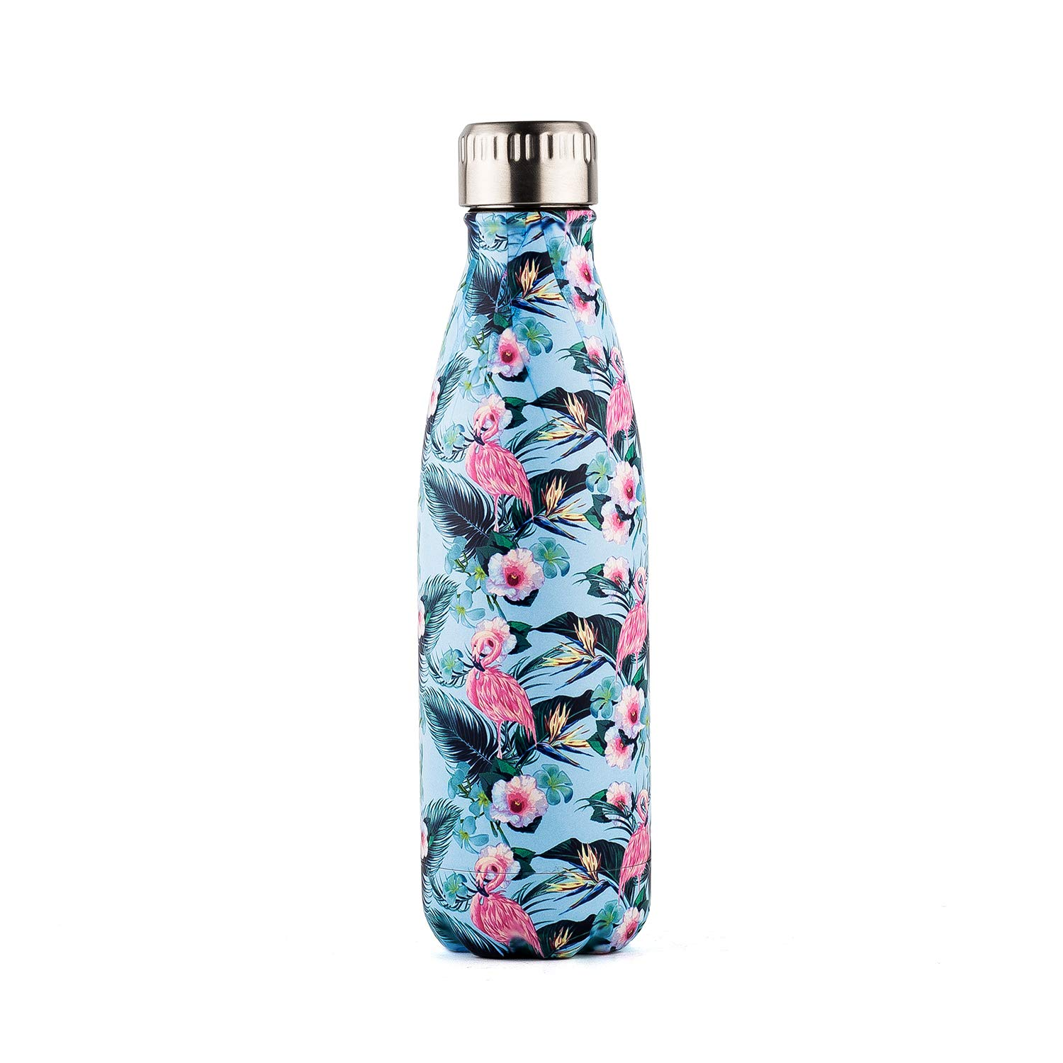 DOKIO 17 oz Painting Insulated Sports Water Bottle for Drinking Double Stemless Stainless Steel Vacuum Flask Thermos Travel Mug for Outdoor Sporting Camping for Ice Hot Drink