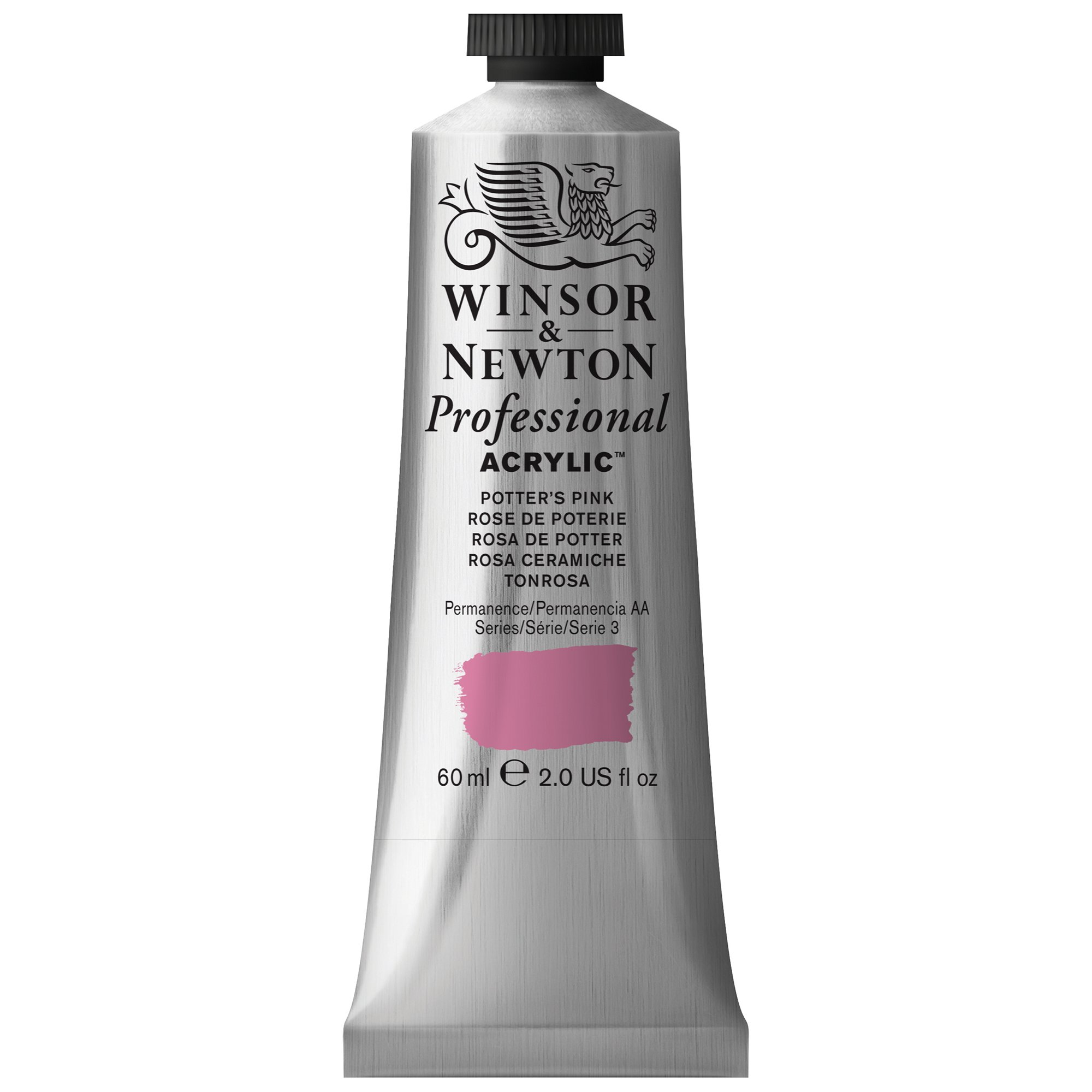 Winsor & Newton Professional Acrylic Color Paint, 60ml Tube, Potters Pink