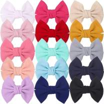 XIMA 15pcs Hair Bow Clips Fabric Princess's Hair Accessories for Baby Girl Toddlers Teens Kids Womens