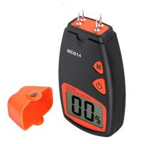 Proster Handheld Wood Moisture Test Meter LCD Moisture Tester for Wood Moisture Detector Damp Meter with 4 Test Pins for Firewood Paper Humidity Measuring Include 9V Battery