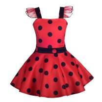 Dressy Daisy Girls Polka Dots Ladybug Dress Up Costume Birthday Halloween Christmas Fancy Party Outfit Size 2-8