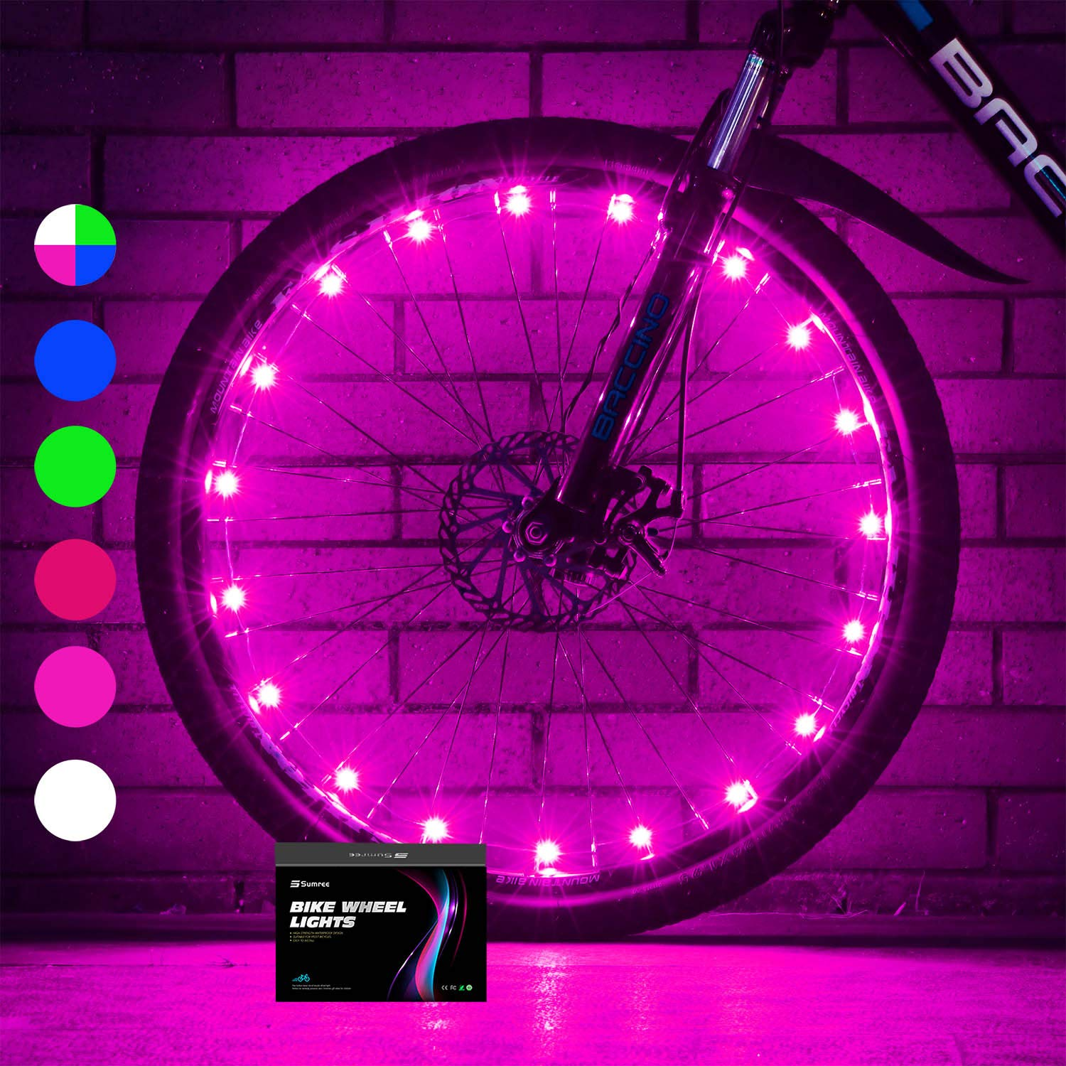 Sumree 2-Tire Pack LED Bike Wheel Lights Bike Spoke Light Super Bright Cycling Bicycle Light with Batteries Included