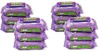 Boogie Wipes, Grape Scent Wet Nose Wipes for Kids and Baby, Allergy Relief, Soft Natural Saline Hand and Face Tissue with Aloe, Chamomile and Vitamin E, 30 Count, Pack of 12