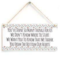 """Meijiafei You've Done so Many Things for us we Don't Know Where to Start we Want You to Know That we Thank You from The Bottom of Our Hearts - Cute Special Thanks from Us Poppy Style Border 10"""" X 5"""""""