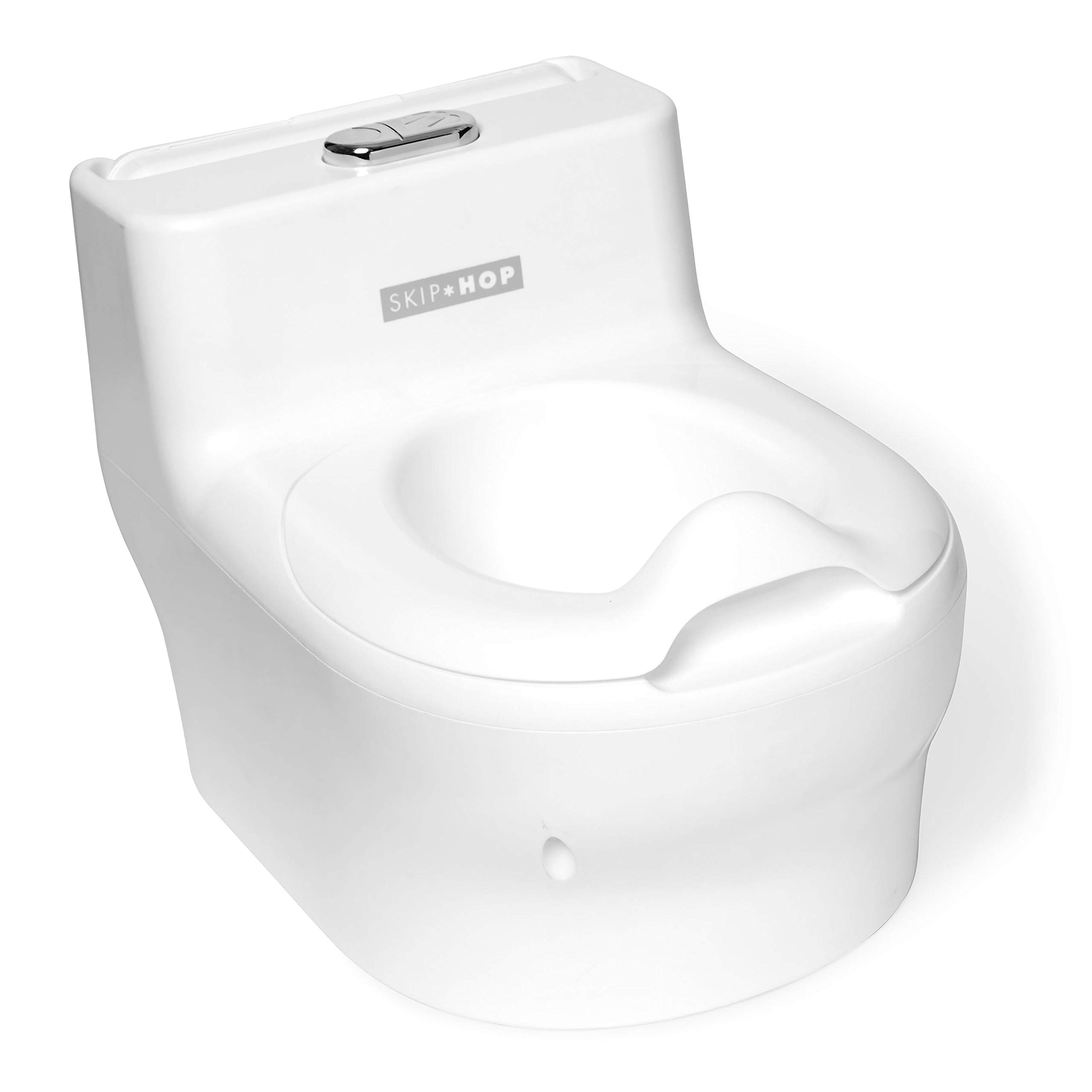 Skip Hop Potty Training Toilet with Easy Clean Coating & Baby Wipes Holder, White