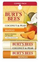 Burt's Bees Coconut & Pear & Mango Lip Balm By Burts Bees for Unisex - 2 X 0.15 Oz Lip Balm, 2count
