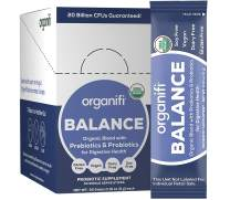 Organifi: Balance - Prebiotic and Probiotic Supplement - 30 Portable Sticks - Organic, Vegan, Gluten-Free, Dairy-Free, Soy-Free - for Immune Support, Gut Health, and Improved Nutrient Absorption