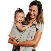 Nalakai Luxury Ring Sling Baby Carrier – Extra-Soft Bamboo and Linen Fabric - Lightweight wrap - for Newborns, Infants and Toddlers - Perfect Baby Shower Gift - Nursing Cover (Sage Green)