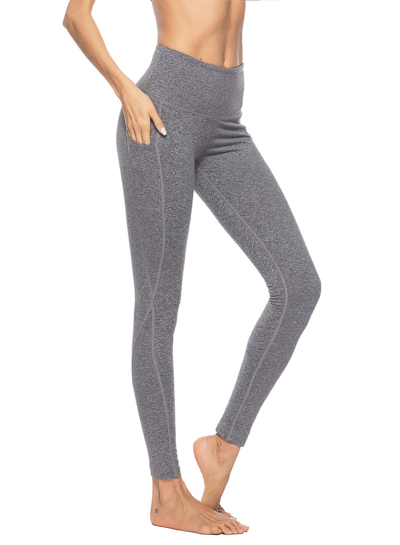 ZOANO Women's High Waist Yoga Pants with Pocket Figure Flattering Tummy Control Workout Athletic Leggings