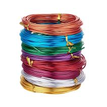 Kissitty 12 Gauge (2mm) Aluminum Craft Wire 8 Colors Coil Jewelry Floral Making Beading Wire 19 Feet/Roll
