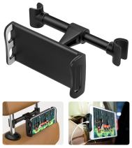 """MoKo Headrest Phone/Tablet Car Mount, Adjustable Tablet Holder for 4-11"""" Devices, Fit with iPhone 11 Pro Max/11 Pro/11, iPhone Xs/Xs Max/XR, iPhone SE 2020, iPad Pro 11 2020, Galaxy S20 6.2"""" - Black"""