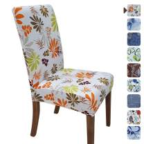SPRINGRICO Chair Cover for Dining Room, Stretch Fit Short Dining Room Chair Slipcover 1Pc, Washable Seat Cover for Kitchen, Party, Wedding Ceremony (Set of 1, FLORAL1)